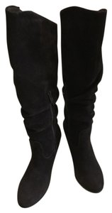 Very Volatile Suede Leather Knee Highs Brown Boots