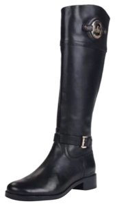 Michael Kors Black Leather Biking Boots Boots
