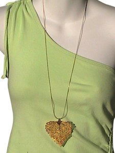 MONET Vintage Monet Necklace & Gold Dip Leaf Necklace