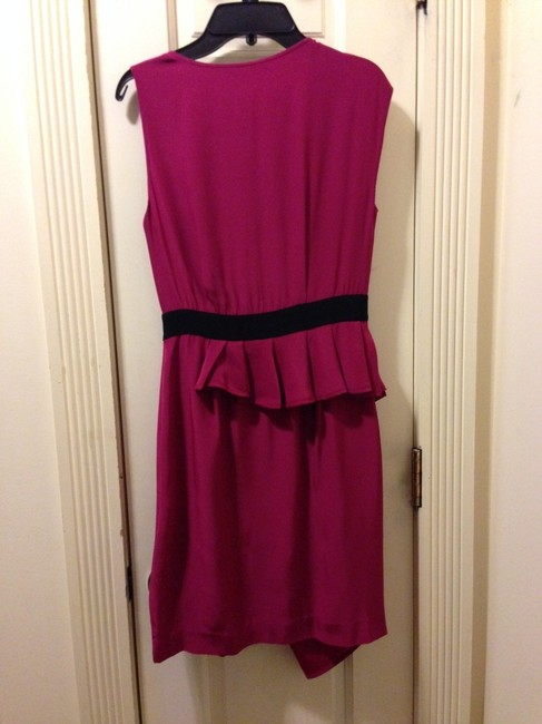 Cynthia Steffe Silk Draped Asymmetrical Sleeve Above Knee Length Party Dress
