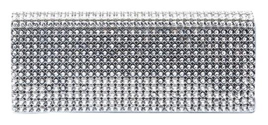 Preload https://img-static.tradesy.com/item/6849064/swarovski-crystal-silver-metallic-leather-clutch-0-1-540-540.jpg