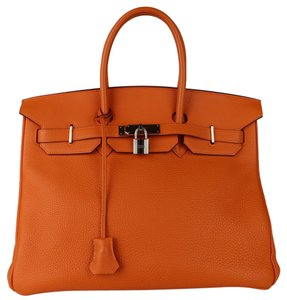 Hermès Hermes Birkin 35 Togo Tote in Orange