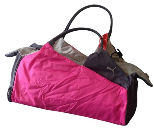 Item - Gym Pink and Grey Nylon Weekend/Travel Bag