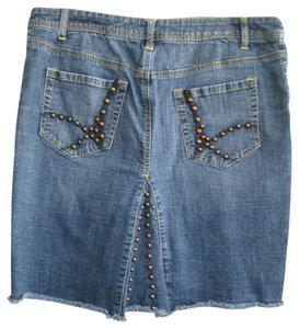 Arizona Jeans Company Studded Skirt denim