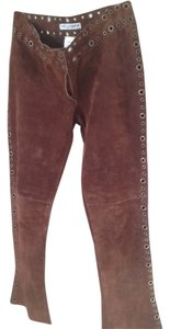 Dolce&Gabbana Flare Pants Brown Suede