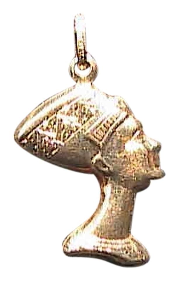 14k yellow gold italian egyptian queen nefertiti pendant necklace other italian 14k yellow gold egyptian queen nefertiti pendant mozeypictures Images