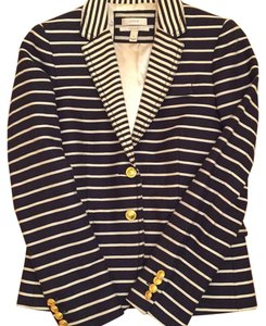 J.Crew Cream & Navy Blue Blazer