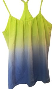 Gypsy05 Ombre Sexy Tie-dye Top Yellow and Blue