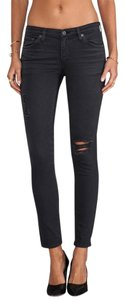 AG Adriano Goldschmied Skinnies Ripped Torn Rips Skinny Jeans-Distressed