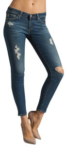 AG Adriano Goldschmied Skinnies Ripped Torn Rips Distressing Skinny Jeans-Distressed