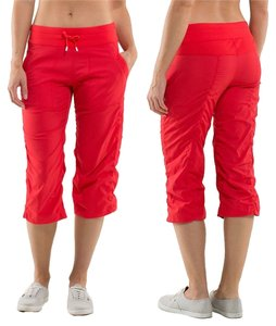 Lululemon Lulu Leggings Skinny Active Capris Red