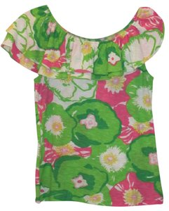 Lilly Pulitzer Top Greens/Pinks/Yellow/White
