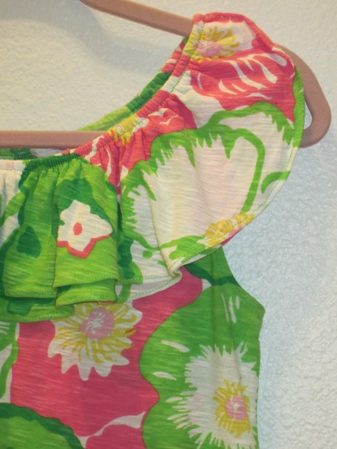 Lilly Pulitzer Top Greens/Pinks/Yellow/White Image 1