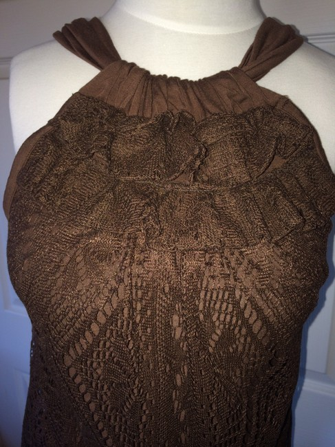 Ella Moss Lacy Top Brown