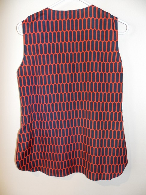 Michael Kors Graphic Sleeveless Top Red & Navy