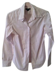 Gap Button Down Shirt White & Pink