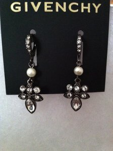 Givenchy Black/White/Crystal With Tags.swarvoski and Pearl Drop Earrings..they Are Shaped Like Angel's Retail Earrings