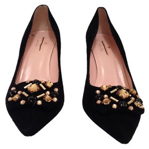 Kate Spade Black and Gold Pumps