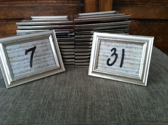 31 Music-themed Table Number Frames