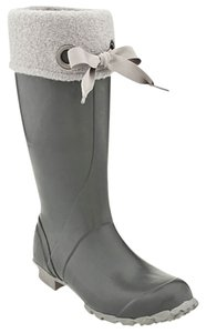 Bogs Rain Winter Warm Fleece Comfortable Winter Fall Spring Cold Tall Grey Boots
