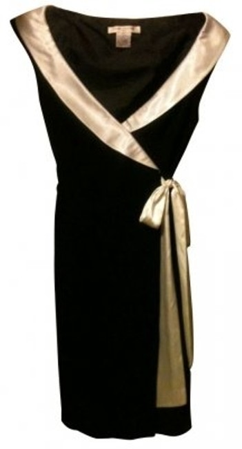 Preload https://item2.tradesy.com/images/evan-picone-black-and-white-wrap-with-satin-collar-attached-belt-cocktail-dress-size-12-l-6856-0-0.jpg?width=400&height=650