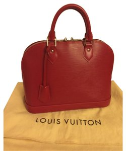 Louis Vuitton Satchel in Carmine (Discontinued color)