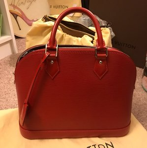 Louis Vuitton Louisvuittonalma Louisvuittonepialma Satchel in Carmine (Discontinued color)