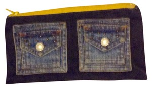 Other Blue Denim Clutch