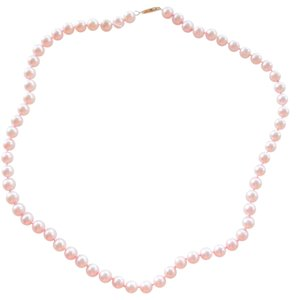 Other Beautiful 7mm Freshwater Pink Pearl 14k Yellow Gold Necklace