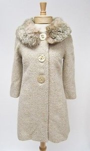 Beth Bowley Womens Cream Gold Coat