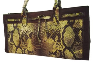 Other Satchel in Brown/Python Embossed