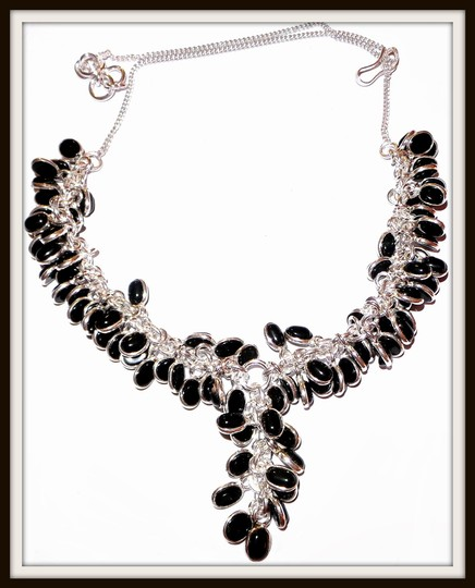 Other Genuine Black Onyx Cabochan Charm Necklace