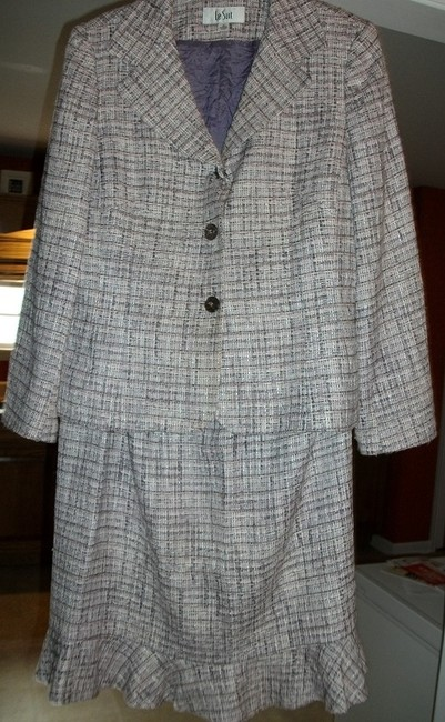 Item - Purple with Assorted Hughs Women's By Skirt Suit Size 14 (L)