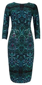 London Times Stained Glass 3/4 Sleeve Dress