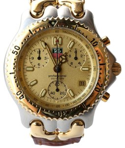 TAG Heuer Sel Chronograph Gold Plated Steel Watch