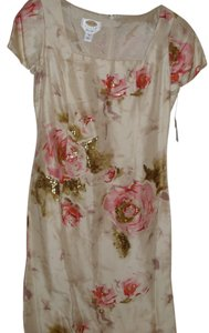 Talbots Formal Sheath Silk Floral Dress