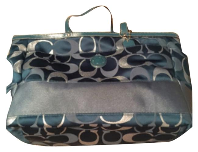 Item - Teal and Silver Canvas Diaper Bag