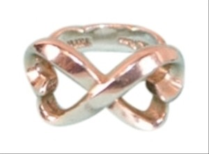 Tiffany & Co. Authentic Tiffany & Co.Sterling Silver Open Heart Infinity Ring