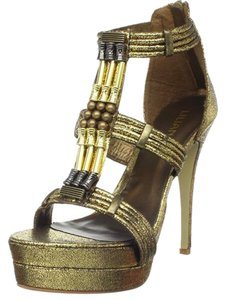 Liliana Egyptian Stiletto Beaded Bronze Sandals