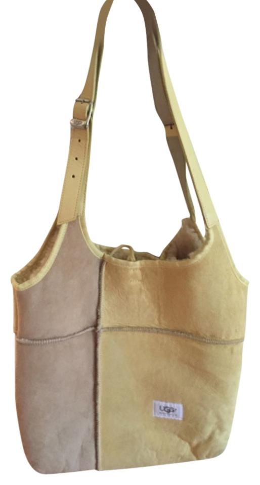 e3e5eb6edb4a UGG Australia Yellow and Tan Suede Leather Tote - Tradesy