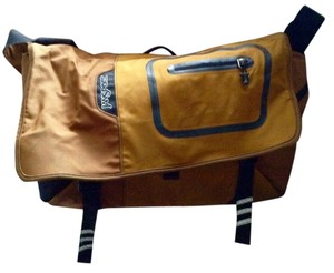 JanSport Satchel in Mustard, Gray, Black, and Caramel