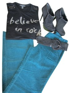 Victoria's Secret Corduroy Marisa Fit Boot Cut Pants Teal
