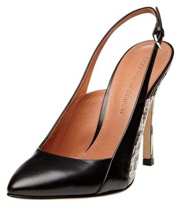 Sigerson Morrison Leather Pump Slingback Black Pumps