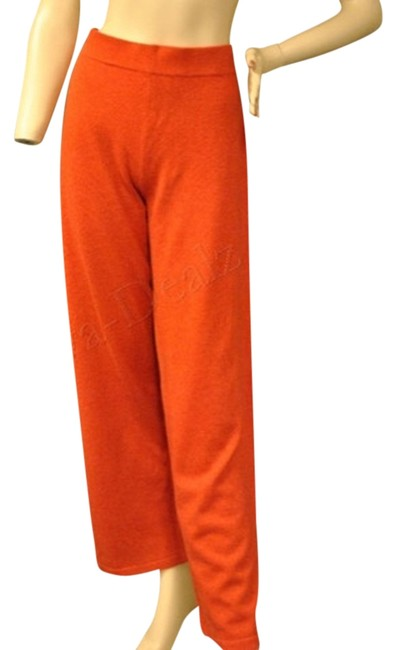 Neiman Marcus Cashmere Lounge Relaxed Pants Red