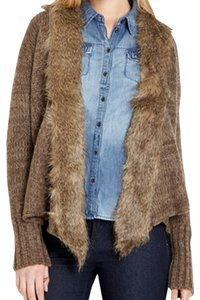 Jack by BB Dakota Faux Fur Knit Open Front Cardigan