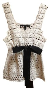 Robert Rodriguez Crochet Top White