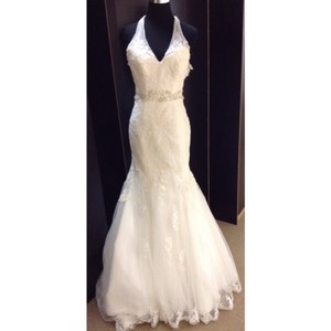 Maggie Sottero Ivory Lace Formal Wedding Dress Size 2 (XS)
