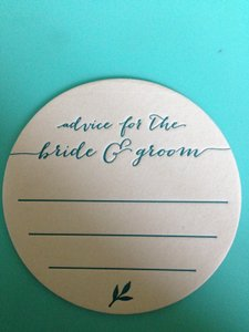 "Teal ""Advice For The Bride & Groom"" Coasters"