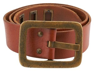 Theory Theory Brown Leather Belt, Size P (1252)