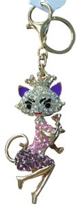Queen Cat crystal key chain